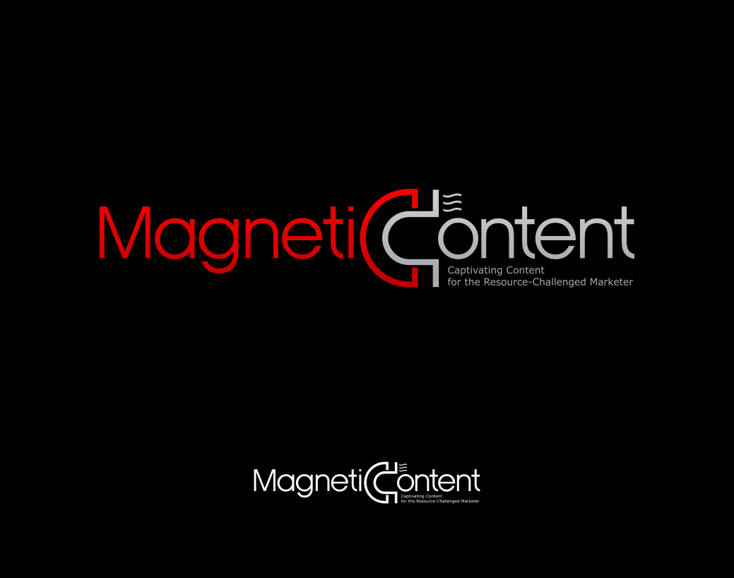 Create a magnetic logo for a new creative services company