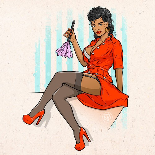 Pin-up style character