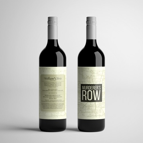 Wine Label for Murderer's Row