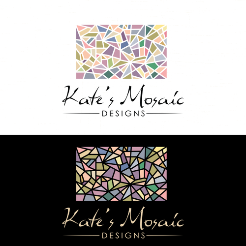 Create a unique and artistic logo for Kate's Mosaic Designs