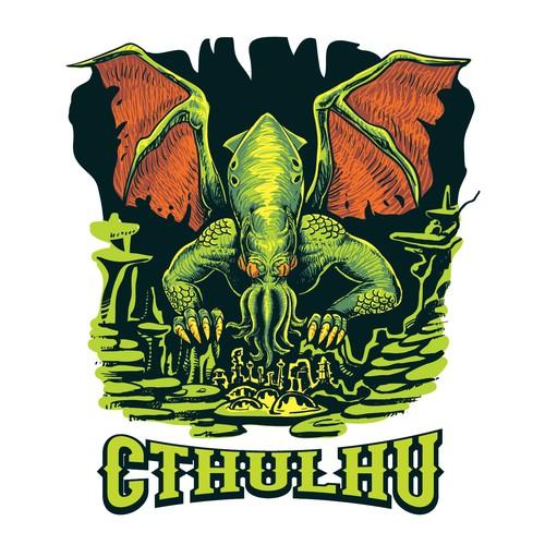 Cthulhu t shirt design