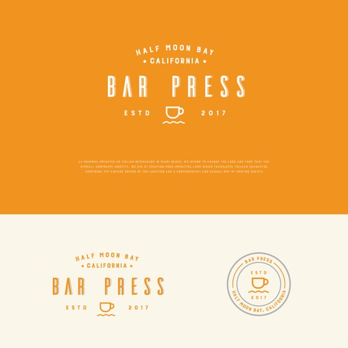 Bar Press logo design