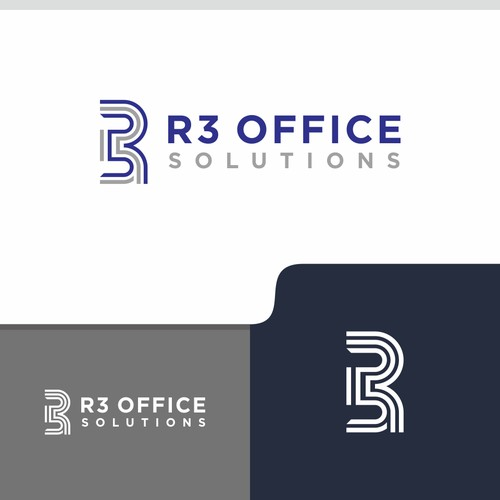 logo concept for R3 OFFICE SOLUTIONS