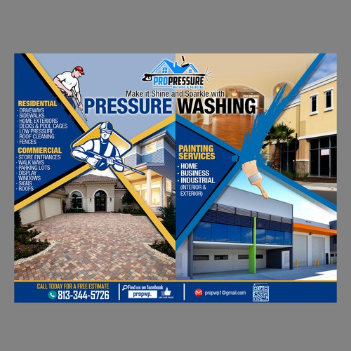 pressure washing flyer