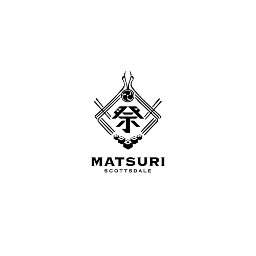 logo design for Japanese restaurant & Bar