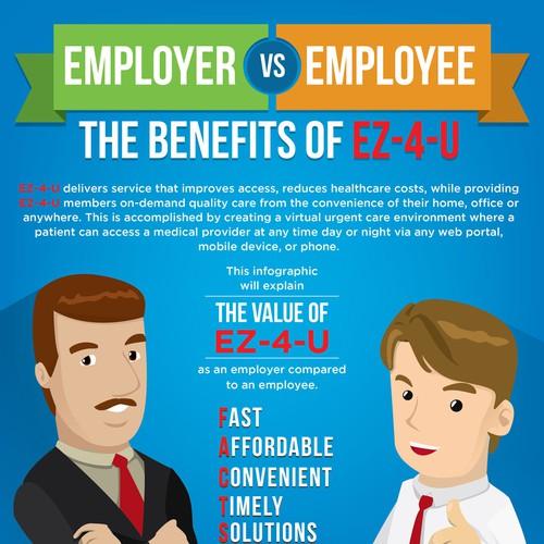 Employer vs employee infographic