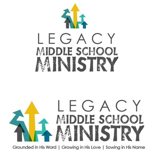 Create the next logo for Legacy Middle School Ministry
