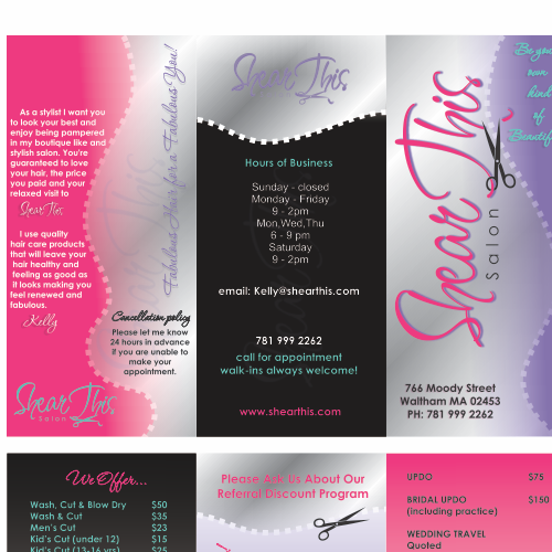 New brochure design wanted for Shear This Salon
