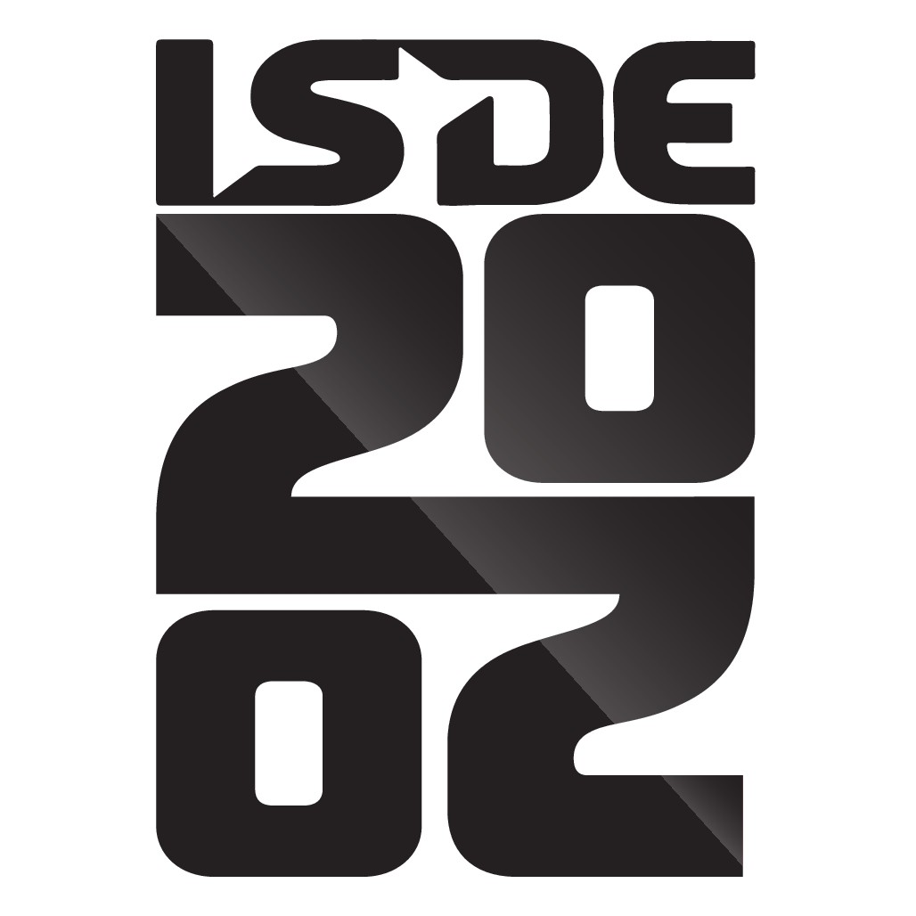 Logo isde 2020 - enduro racing!