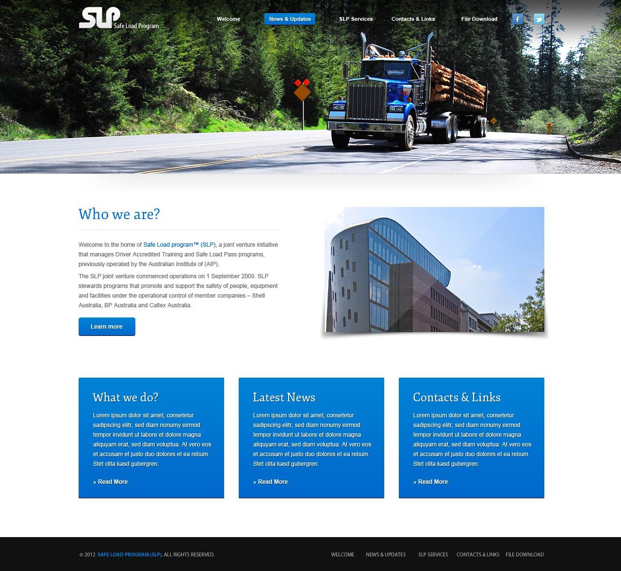 Safe Load Program (SLP) needs a new website design