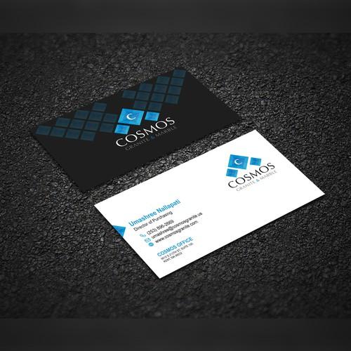 Cosmetics Business card design