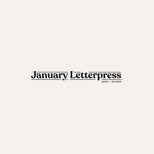 January Letterpress