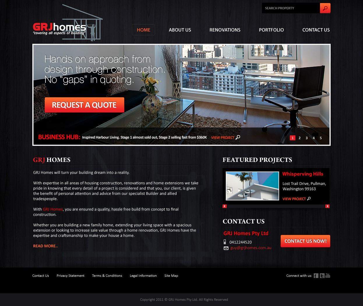 Create the next website design for GRJ Homes