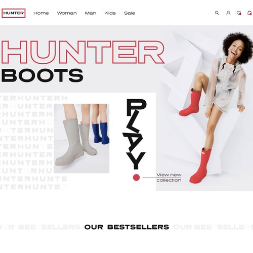 Hunter boots online store concept