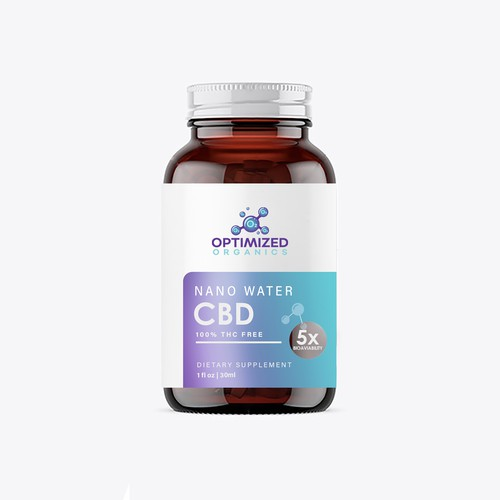 CBD supplement label design