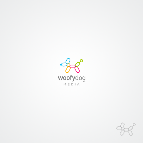 Creative and modern logo for web design and development company