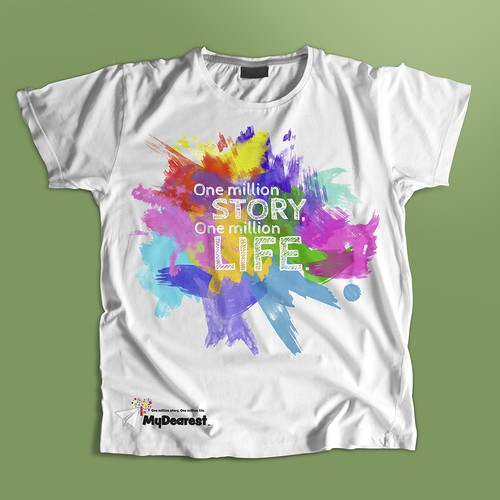 T-shirt colorful design