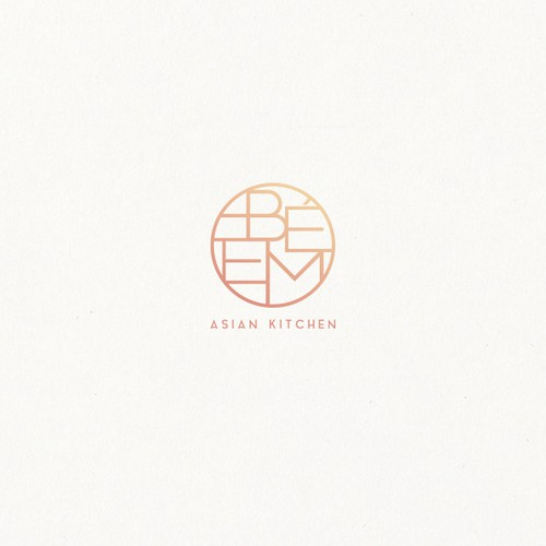 Bé Em Asian Kitchen | logo concept