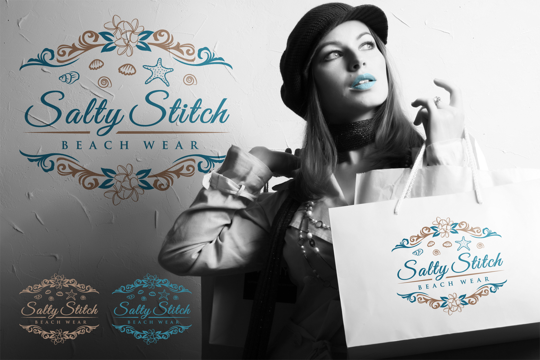Create the next logo for Salty Stitch