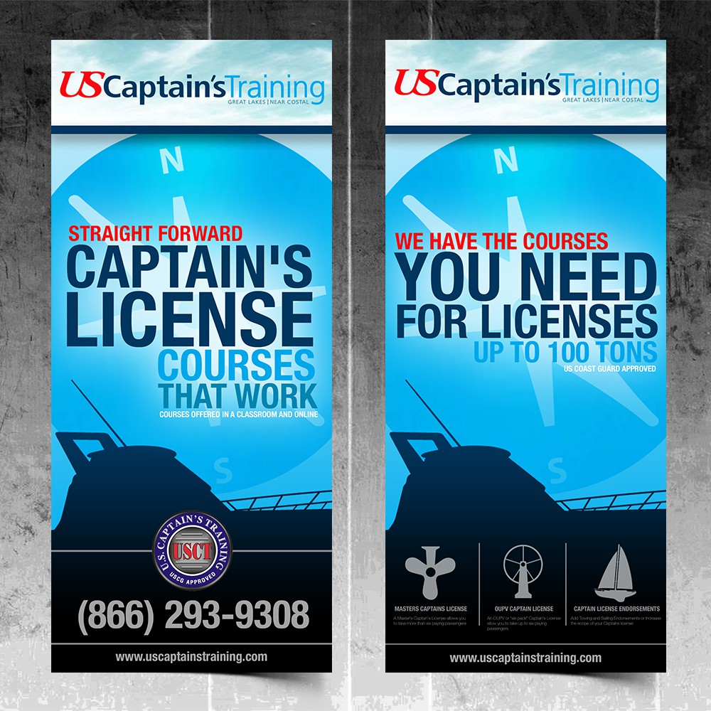 Create the next brochure design for us captain's training