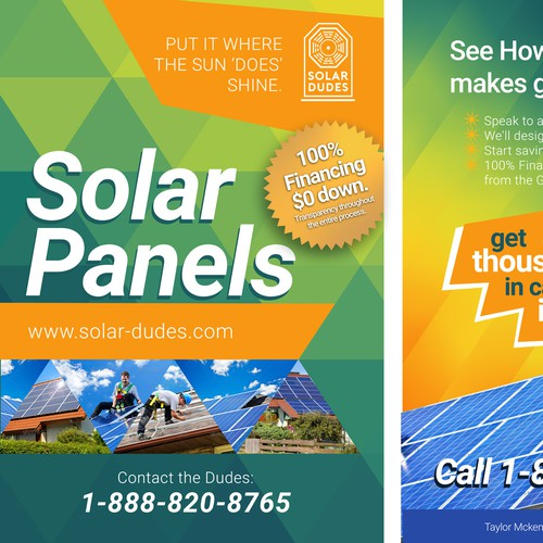 Solar Flyer and Door Hanger for Homeowners