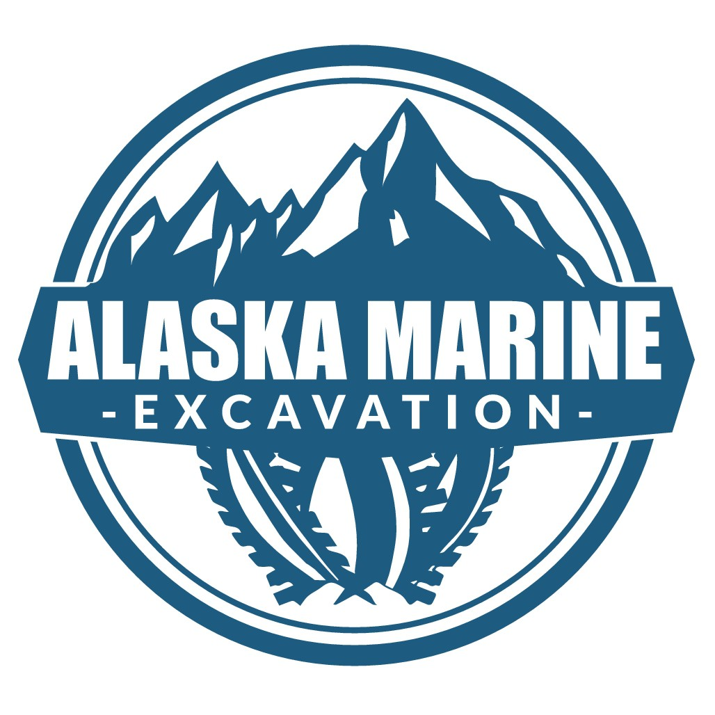 Heavy Duty 'Alaskan Marine Excavation' Logo