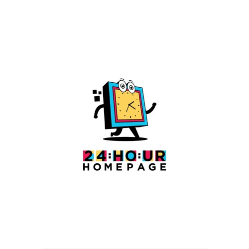 Playful Logo for 24HOUR HOMEPAGE