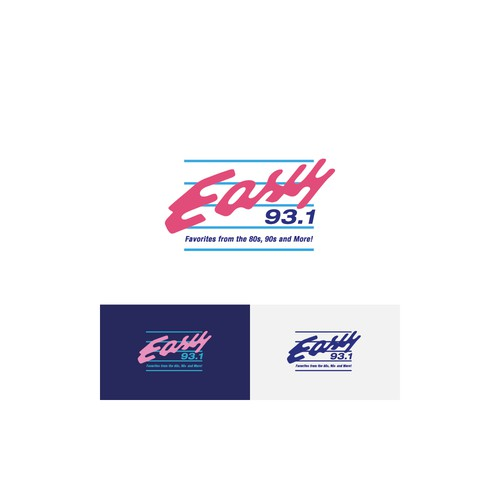 Logo concept for Easy 93.1 radio station, Miami.