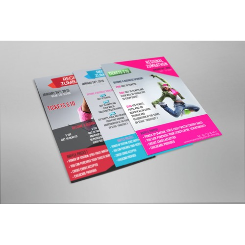 Zumbathon Flyer For A Non Profit Org