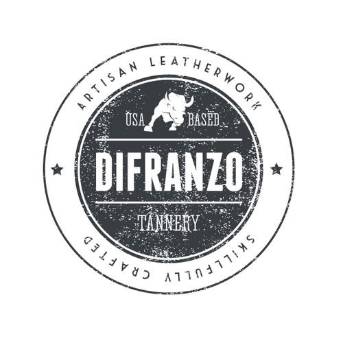 Create a classy - artisanal - rugged -badge style- logo design forDiFranzo Leather, an Italian artisan leather company