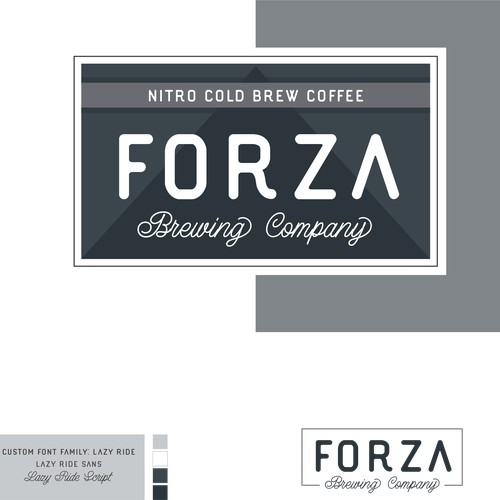 Forza Brewing Company Brand Design