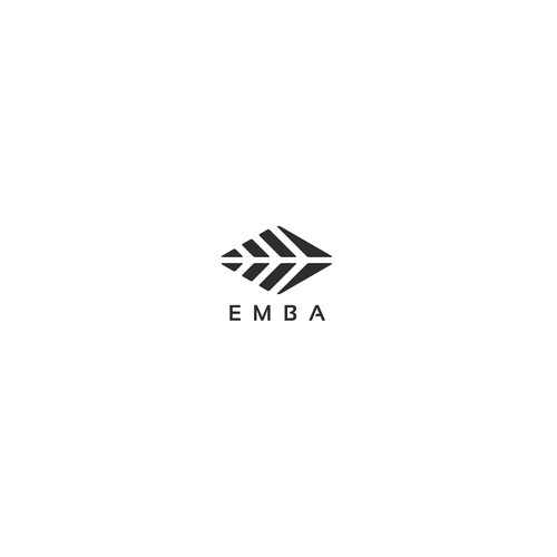 Abstract logo for Emba outoor clothing company