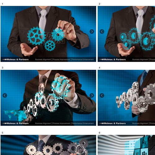 Banners continuity Cogs design
