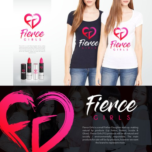 "Fierce Girls"" (start-up) needs a logo- lip products & brand empowering women"