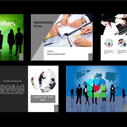 Create (5) Slides to Highlight a top-tier I.T. Consulting Company