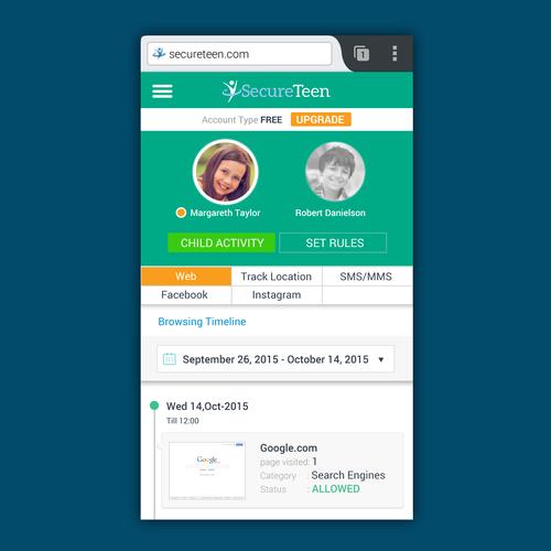 Web Dashboard Design for Small Screens