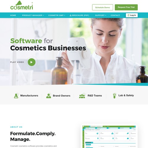 Amazing concept for B2B Cosmetic SoftwareCompany