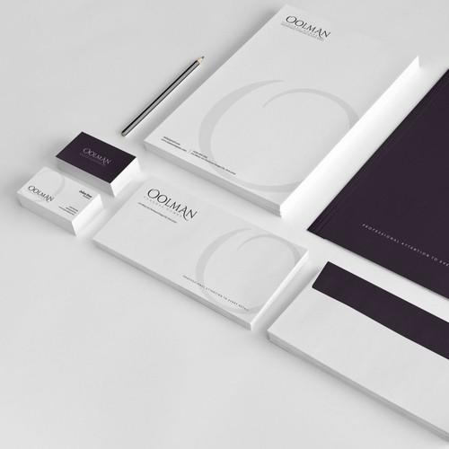Oolman stationery and logo design