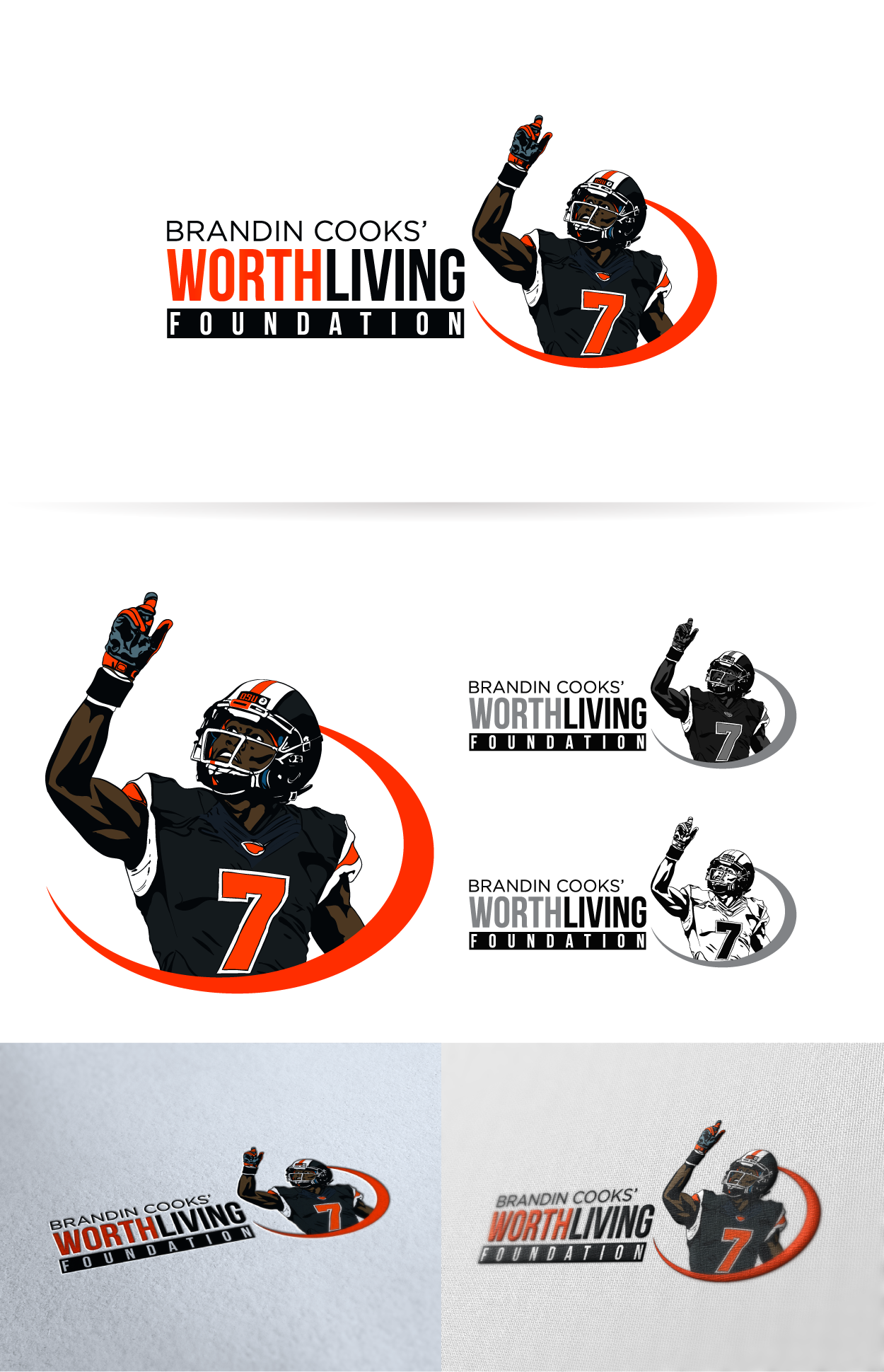 Create a logo for a NFL Players charity
