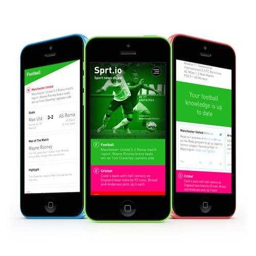 Sprt.io Mobile App Concept