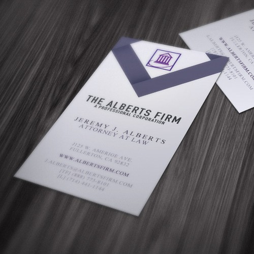 The Alberts Firm, A Professional Corporation needs a new stationery