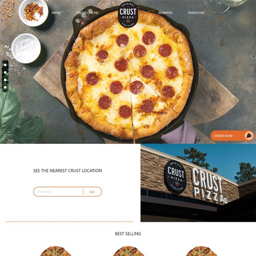 Design entry for pizza crust