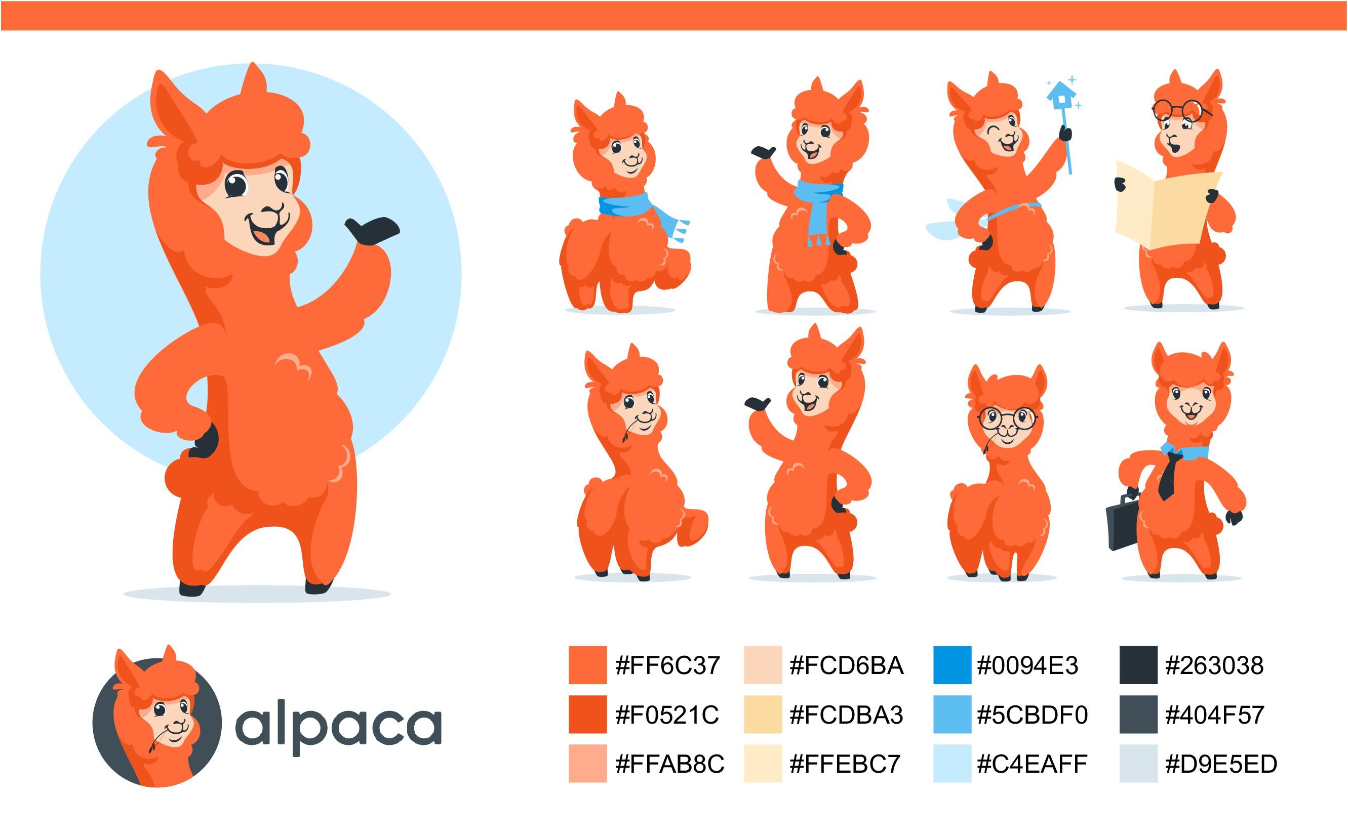 Design the cutest Alpaca mascot