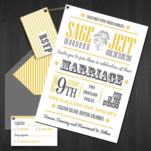 1960s Concert poster invitation for Sage and Jeff's wedding