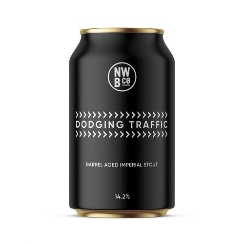 Minimalistic beer label design.