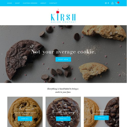 Bright, Fun Commerce Website for Kirsh Baking Company