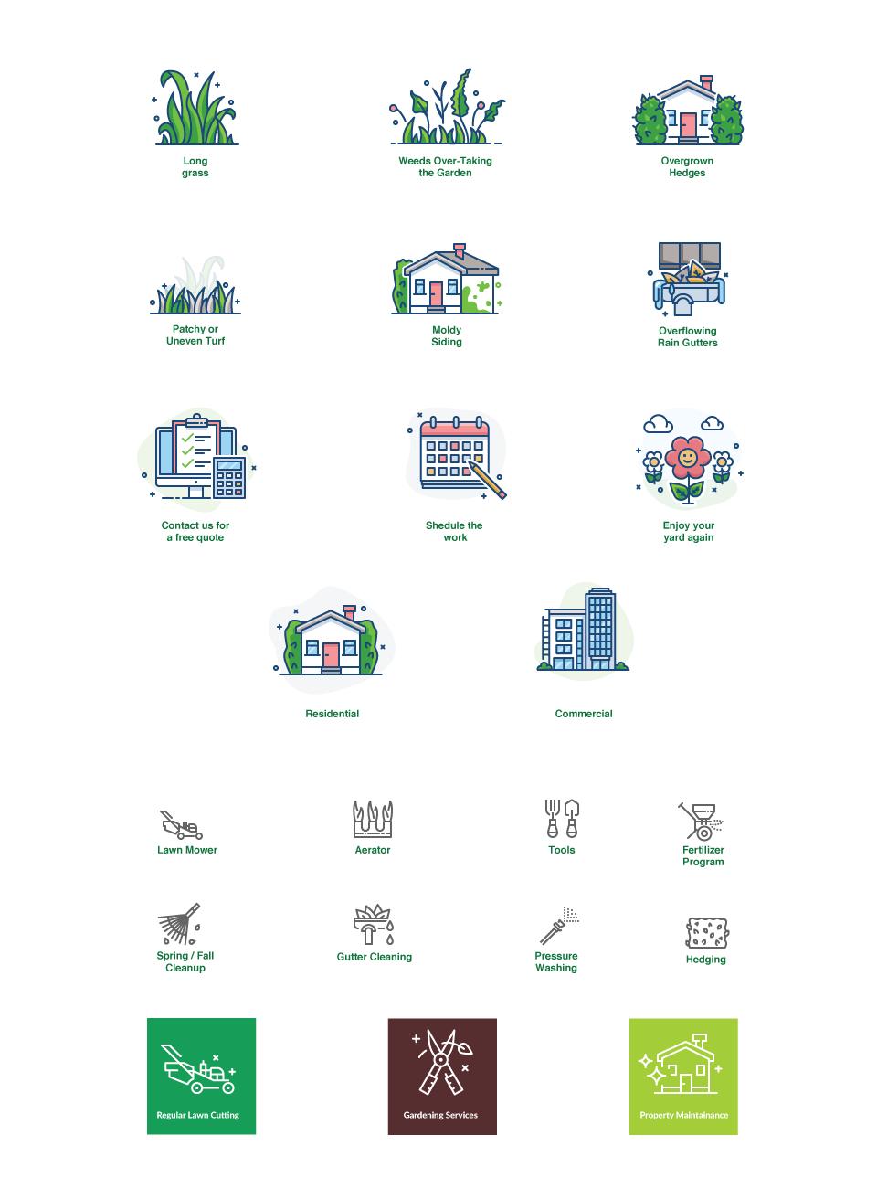 Caspian Lawn Care Web Icons