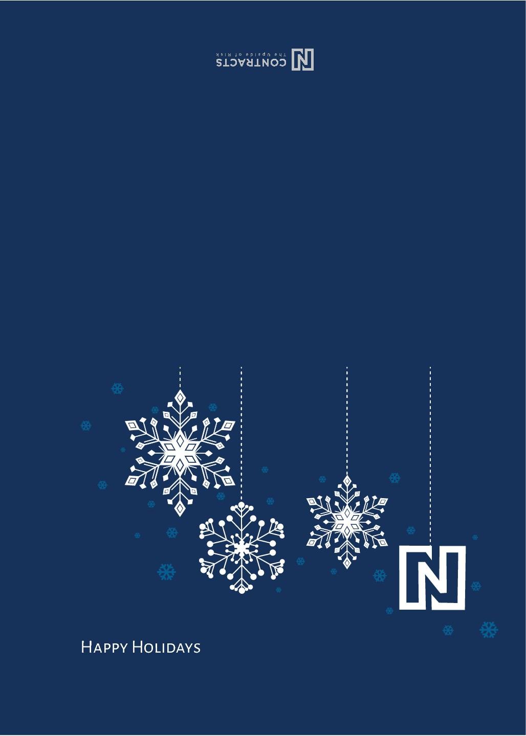 Custom Holiday Card for Software Company