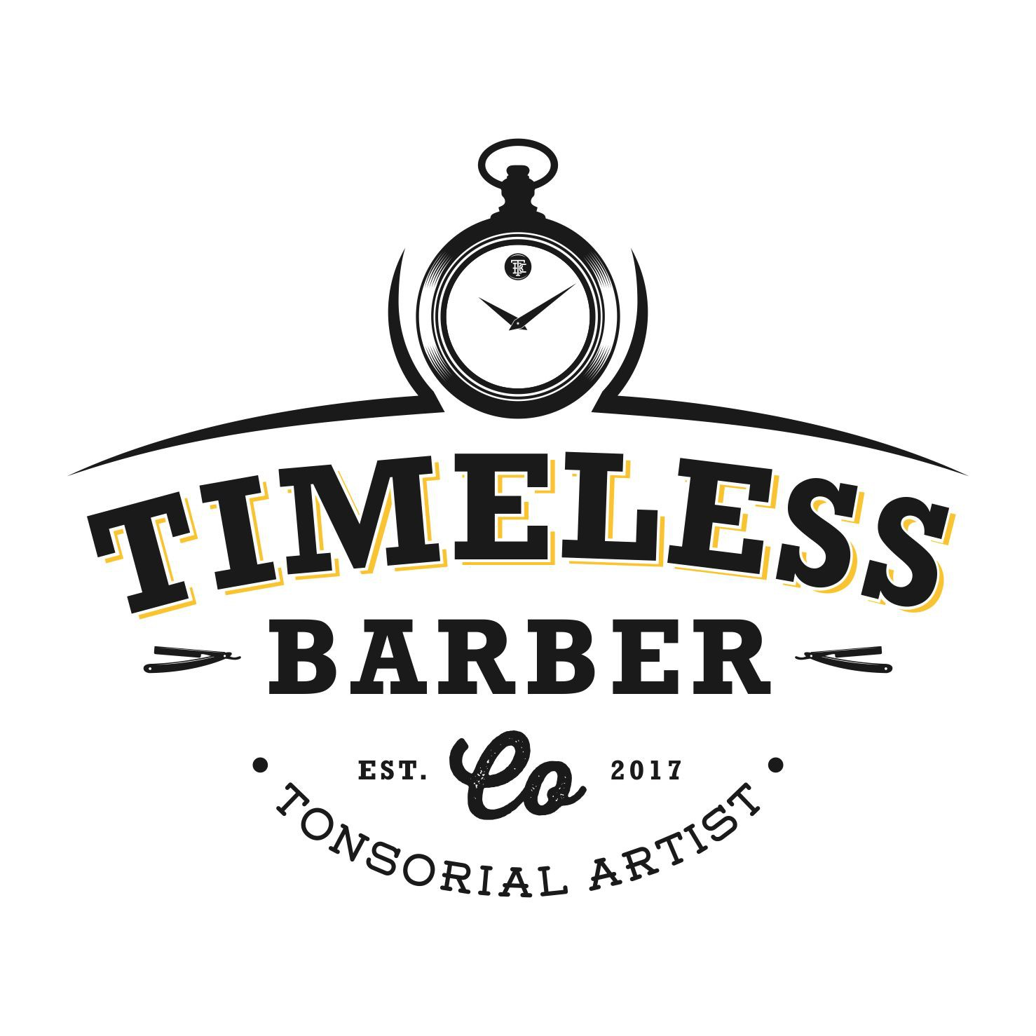 Tonsorial Artist/Barbershop logo.