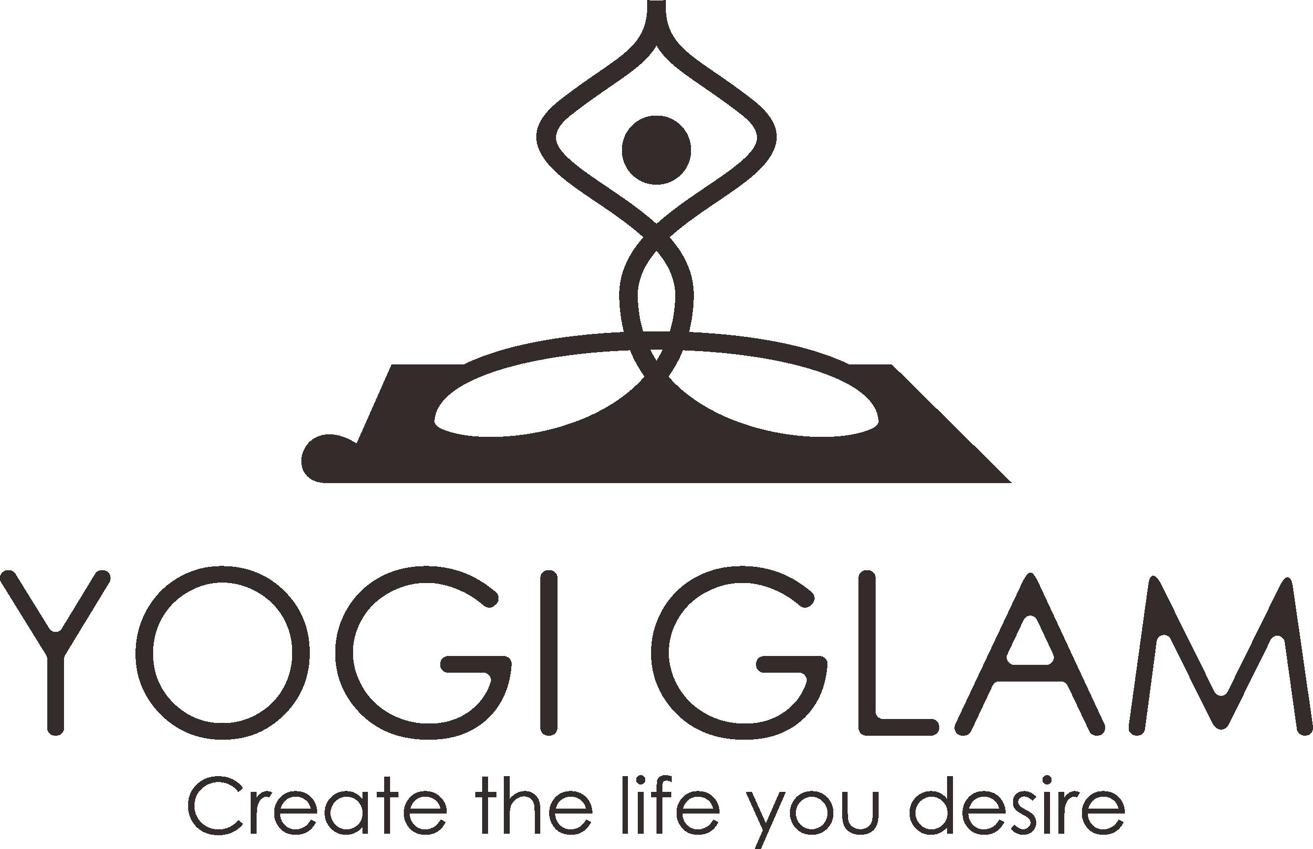 Create a captivating logo for Yogi Glam.